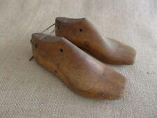 Vintage  wooden pair kids size cobbles  shoe beautiful set perfect for decoratio