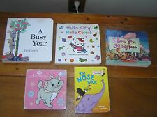 Lot of 5 I LOVE YOU, STINKY FACE A Busy Year NOSE BOOK Hello Kitty Board Books