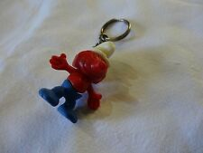 smurf key chain vintage old plastic