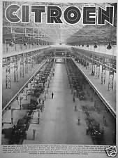 PUBLICITÉ 1933 USINE CITROËN 8 CV PETITE ROSALIE QUALITÉS DE FABRICATION