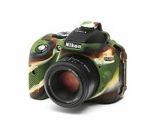 Camera silicone cover for Nikon D5300 Camouflage + LCD Screen Protector
