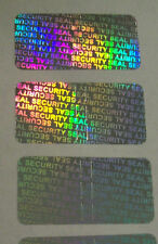 "100 SECURITY SEAL Hologram Tamper Evident Warranty Void Labels 1/2""x1"""