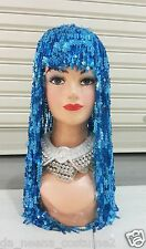 DaNeeNa H571 Venus feather Showgirl Dance pageant Sequin Fringe Wig Headdress