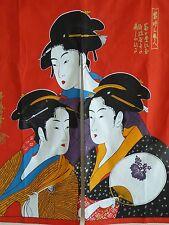 Japanese Noren Curtain UKIYOE UTAMARO BIJIN Doorway Room Divider Tapestry/RED