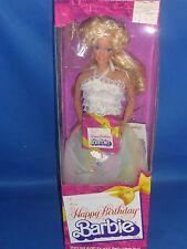 ♥ NRFB top Superstar era 1980 Happy Birthday barbie regalo de cumpleaños Vintage