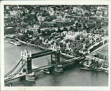 The Tower of London and the Tower Bridge Original News Service Photo