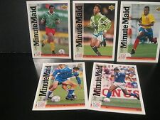 "World Cup Soccer All-Star Set  ""Upper Deck & Minute Maid""  25 Cards  Dated 1994"