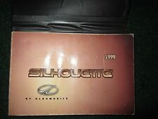 1999 Oldsmobile Silhouette Owner's Manual DEALER Case Owners Olds