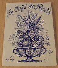 """VTG French MENU~""""Le CAFE de PARIS""""~"""