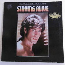 "33 tours Film STAYING ALIVE Disque LP 12"" BEE GEES - JOHN TRAVOLTA -RSO 813269-1"