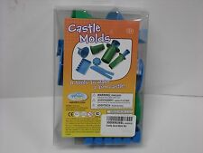 8 pc Waba Fun Sand Castle Mold Set works with WabaKinetic Sand/Regular Sand 3+