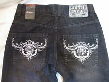 SOUTH POLE Black Fade X-Clusive Embroidered Pocket Denim Jeans Men's 32 X 31