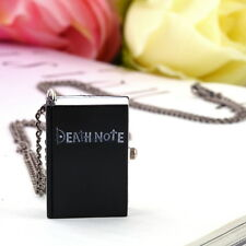 Vintage Unique Death Note Book Quartz Pocket Watch Pendant Necklace Gift DI
