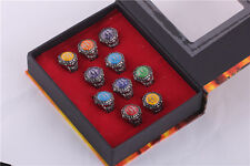 Anime Katekyo Hitman Reborn Vongola 10 PCS Rings With Box