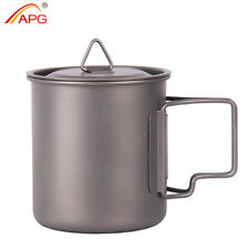 400ml Portable Mug Titanium Traveling Hiking Camping Outdoor Survival Cup APG