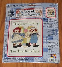 Raggedy Ann & Andy Counted Cross Stitch Kit ~ Sealed ~ Things are Sweeter