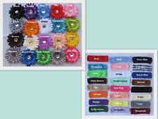 12 Pc  6 Flower Clips + 6 Crochet Headbands infant girl toddler hair
