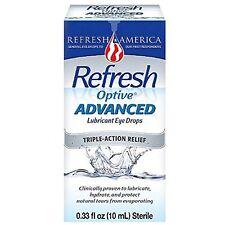 Refresh Optive Advanced Lubricant Eye Drops 0.33 fl oz (10 ml) Each