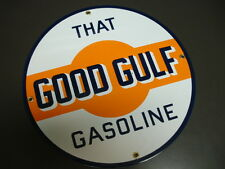 GOOD GULF GAS Oil/Gas Porcelain Advertising sign