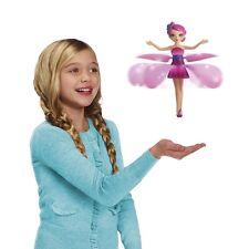 Quialty flying flottant Fée Filles Jouet Enfants Poupée Rose Ailes Magique Cadeau de Noël