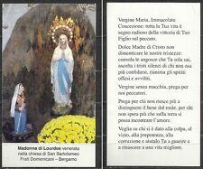 Santino - Madonna di Lourdes - venerata nella chiesa di San Bartolomeo - Bergamo