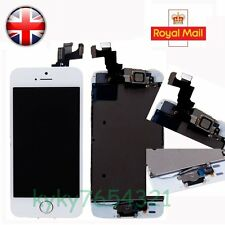 UK LCD Touch Screen Digitizer Assembly For iPhone 5S White+Camera & Home Button