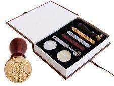 Harry Potter Hogwarts School Badge Vintage Wax Seal Stamp Gift Set