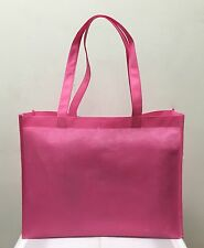 SHOPPING BAGS ECO FRIENDLY REUSABLE GIFT PROMO BAG MED. WHOLESALE 100 PCS PINK