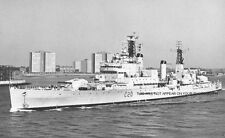 ROYAL NAVY CRUISER HMS TIGER SAILS FROM PORTSMOUTH