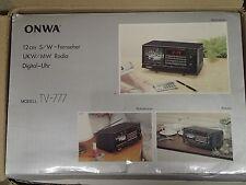 Alter 80er Jahre Retro Vintage Onwa TV -777 tragbarer SW-Fernseher  in OVP