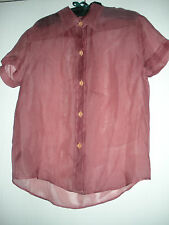 MIKE & TOD LABEL, SHEER SILK BLOUSE, SZ. S., NEW
