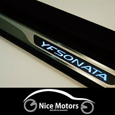 LED Door Step Scuff Plate Trim For Hyundai SONATA i45 2011 2013
