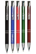Personalized Trimmed Ballpoint Pen - YOU CHOOSE TEXT and COLOR!