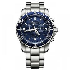 Swiss Army Victorinox 241689 BRAND NEW Men's Maverick Chrono Blue SS Dress Watch