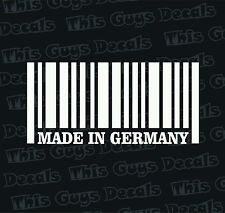 Made in Germany vinyl decal slammed euro audi vw sticker stance illest turbo ill