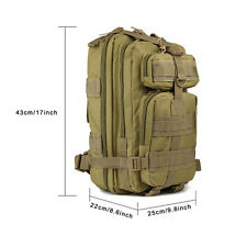 3P Hiking Camping Bag Military Tactical Trekking Rucksack Backpack Waterproof