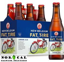 Homebrew Beer Recipe Kit - New Belgium FAT TIRE Amber Ale Clone Extract 5 Gallon