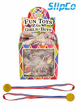 12 Children Gold Winners Plastic Medals Kids Party Game Toys Prizes Awards
