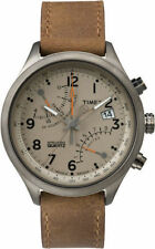 Timex Men's Intelligent Quartz Fly Back Chronograph Tan Dial Watch TW2P78900 NEW