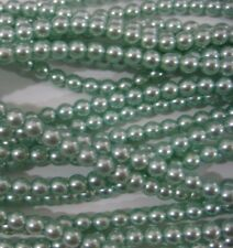 100  Baby Blue Czech Glass Pearl Beads 4 mm crafts FREE PRIORITY POST