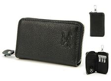 Mens Womens Genuine Leather Car Key Ring Card Holder Case Wallet Purse Bag Coin