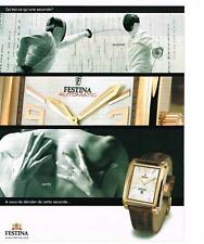 PUBLICITE ADVERTISING  2003   FESTINA  collection montres