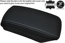 WHITE STITCHING ARMREST LID LEATHER SKIN COVER FITS KIA CEED 2006-2012