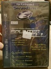 Used SHARKBYTE Official Cheat Codes For Splinter Cell (Sony Playstation 2, 2003)