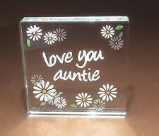 Spaceform Love you Tante Verre Jeton Idées de Cadeau Pour Elle Noël 1418