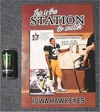 "Old Iowa Hawkeyes 1985 ""This Is The Station"" Larry Station Football Game Poster"