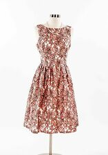 WOMEN'S Champagne & Strawberry PInk & White embroiderd PARTY DRESS M  Princess