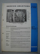 Imperial color TV chassis C 1000 service manual