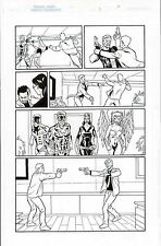 THE MIGHTY CRUSADERS #3 ORIGINAL COMIC ART PAGE SHIELD, WEB, WAR EAGLE, FLY GIRL