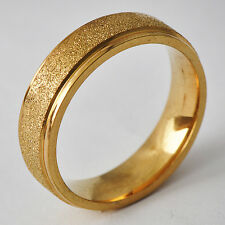 Decent Men's Unisex Yellow Gold Filled Band Promise Love Band Ring Size 8
